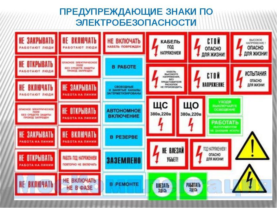 Знаки по электробезопасности в картинках